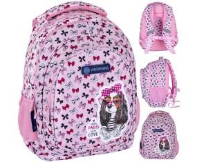 Plecak szkolny ASTRABAG AB330, SWEET DOG WITH BOWS