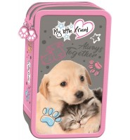 Piórnik podwójny z wyposażeniem CAT & DOG - MY LITTLE FRIEND