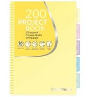 Kołobrulion B5 kratka 100 kartek COOLPACK pastelowy żółty