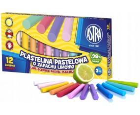 Plastelina 12kol pastelowa zapach limonki Astra
