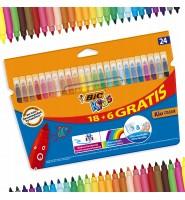 Flamastry BIC Kids Kid Couleur 24 kolory
