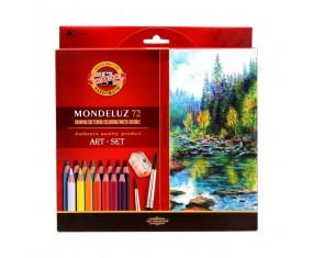 Koh-I-Noor Mondeluz Kredki Akwarelowe 3714, 72 kolory