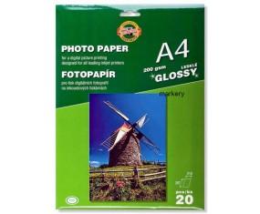 KOH I NOOR Papier Fotograficzny Błysk 200g A4/20 ark.