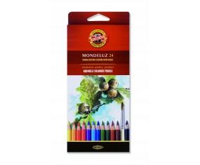 Kredki akwarelowe 24 kolorów mondeluz KOH-I-NOOR