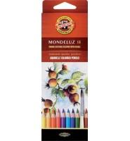 Kredki akwarelowe 18 kolorów mondeluz KOH-I-NOOR