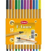 Cienkopis F-Liner 12 kolorów 0,4mm TO-344 TOMA