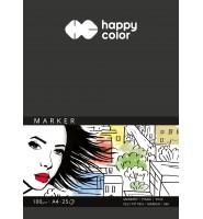 Blok do markerów, ART, 100g, A4, 25 ark, Happy Color