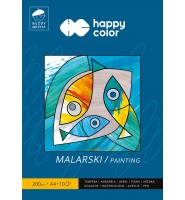 Blok malarski Młody Artysta, A4, 10 ark, 200g, Happy Color