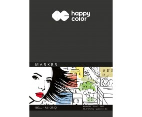 Blok do markerów, ART, 100g, A5, 25 ark, Happy Color