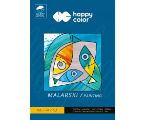 Blok malarski Młody Artysta, A3, 10 ark, 200g, Happy Color
