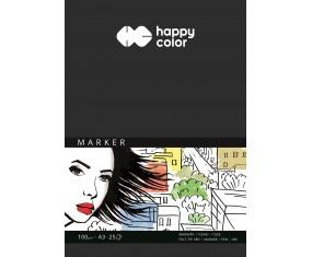 Blok do markerów, ART, 100g, A3, 25 ark, Happy Color