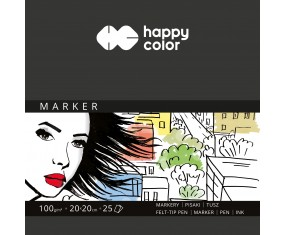Blok do markerów, ART, 100g, 20 x 20 cm, 25 ark, Happy Color