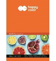 Blok do akrylu, Art., A4, 10 ark, 360g, Happy Color