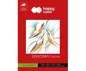 Blok szkicowy Młody Artysta, A4, 50 ark, 90g, Happy Color