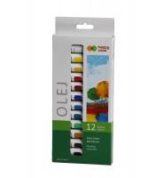 Farba olejna, zestaw 12 kolorów x 12 ml, Happy Color