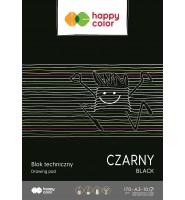 Blok techniczny czarny A3, 170g, 10 ark Happy Color