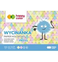 Blok Wycinanka Pastel A4 10 ark 100 g Happy Color