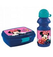 Zestaw bidon + śniadaniówka dla dzieci myszka Minnie Disney