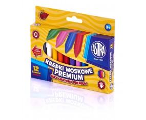 Kredki woskowe 12 kolorów ASTRA, 316111001