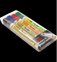 Zestaw 4 ekonomicznych markerów suchościeralnych Pentel MW85-4W