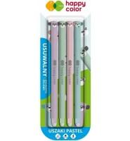 Długopis usuwalny Uszaki Pastel 0,5mm nieb. 4szt HAPPY COLOR