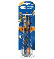 Długopis usuwalny Space 0,5mm, 2 szt. - niebieski HAPPY COLOR