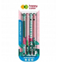 Długopis usuwalny Afrykanki, 0.5mm, 4 sztuki HAPPY COLOR
