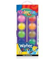 farby akwarelowe 12 kolorów COLORINO
