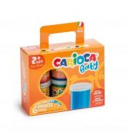 Farby do malowania palcami Carioca baby