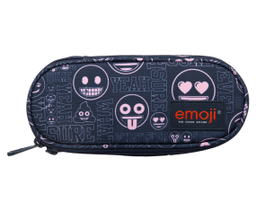 Piórnik saszetka usztywniona z wewnętrzną klapką PC1 emoji® pink
