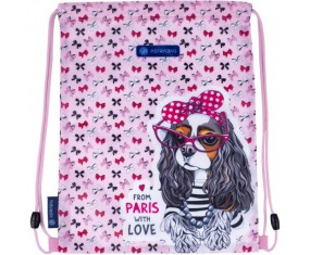Worek na obuwie ASTRABAG AD1, SWEET DOGS WITH BOWS