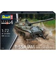 MODEL DO SKLEJANIA 1:72 T-55A/AM with KMT-6/EMT-5 03328 REVELL
