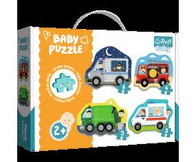 Puzzle dla dzieci 2+ Pojazdy i zawody baby puzzle trefl