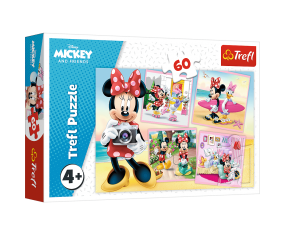 Puzzle 60el Urocza Myszka Minnie Trefl