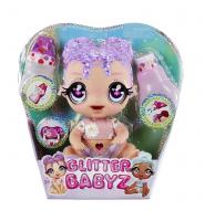 Błyszcząca Lalka Glitter Babyz Doll Lila Wildbloom