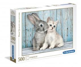 PUZZLE 500 ELEMENTÓW CAT & BUNNY CLEMENTONI