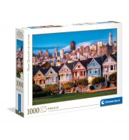 Puzzle 1000el Malowane domy amerykański CLEMENTONI