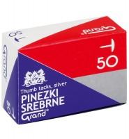 "Pinezki GRAND S50 srebrne – A""10"